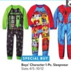 Boys Character 1 Pc. Sleepwear