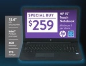 "HP 15"" Touch Notebook"