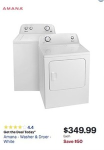 Amana - Dryer White