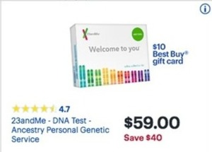 23andMe - DNA Test - Ancestry Personal Genetic Service
