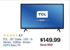 "TCL 32S327 32"" LED 1080p Roku HDTV"