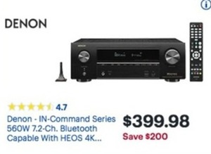 Denon In-Command Series 7.2-Ch. Bluetooth Theater Receiver