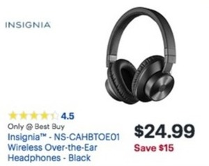 Insignia Wireless Over-the-Eat Headphones