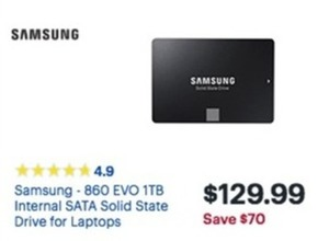 Samsung 860 EVO 1TB Internal SATA Drive