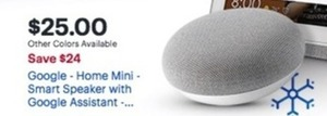 Google Home Mini Smart Speaker With Google Assistant