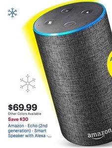Amazon Echo 2nd Generation Smart Speaker