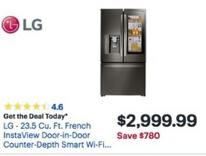 LG 23.5 Cu. Ft. French InstaView Refrigerator