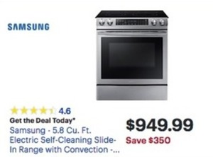 Samsung 5.8 Cu. Ft. Electric Self Cleaning Range