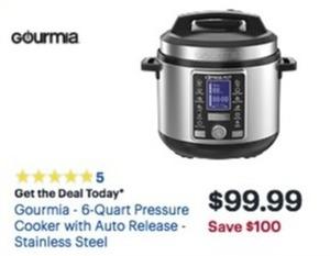 Gourmia 6-Quart Pressure Cooker