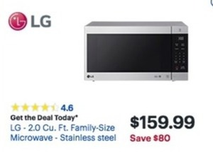 LG 2.0 Cu. Ft.Family Size Microwave