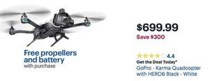 Go-Pro Karma Quadcopter w/ Hero6