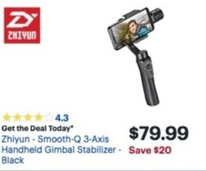 Zhiyun Smooth-Q 3-Axis Handheld Gimbal Stabilizer