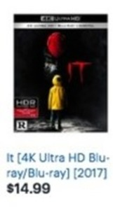 It 4K Ultra HD Blu-Ray