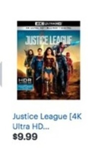 Justice League 4K Ultra HD Blu-Ray