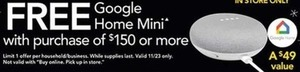 Free Google Home Mini w/ $150+ Orders