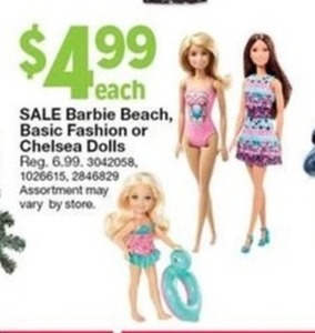 Barbie Beach Basic Fashion  Dolls