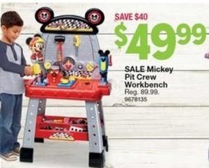 Mickey Pit Crew Workbench