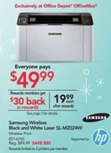 Samsung Wireless Black & White Laser Printer