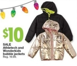 Athletech and Wonderkids Bubble Jackets