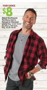 Northwest Territory Men's Flannel or Thermal Shirts
