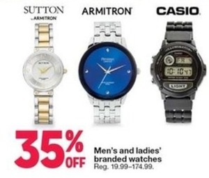 Men's and Ladies' Branded Watches
