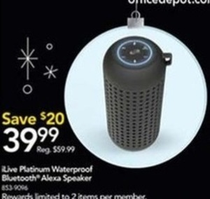 Live Platinum Waterproof Bluetooth Alexa Speaker