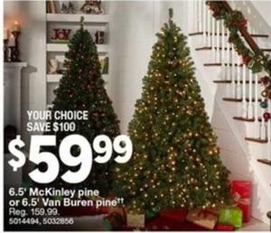 6.5' McKinley Pine or 6.5' Van Buren Pine