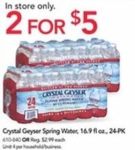 Crystal Geyser Spring Water - 24 Pack