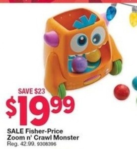 Fisher-Price Zoom n' Crawl Monster