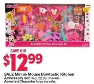 Minnie Mouse Bowtastic Kitchen Accessory Set