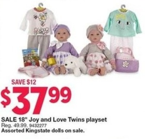 Joy and Love Twins Playset