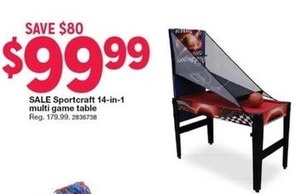 SPORTCRAFT 14-IN-1 MULTI GAME TABLE