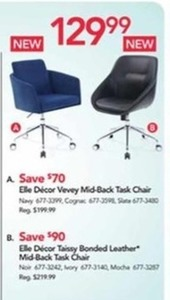 Ell Delcor Vevey Mid-Back Task Chair