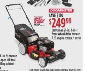 Craftsman 21 Inch 3-In-1 Front Wheel Drive Mower