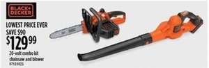 20-Volt Combo Kit Chainsaw & Blower