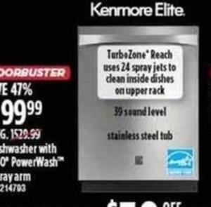 Kenmore Elite TurboZone Dishwasher