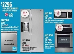 LG 4-Piece Kitchen Suite (With $250 Mail In Rebate)