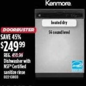 Kenmore Dishwasher With NSF Certified Sanitize Rinse