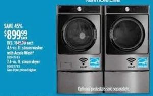 Kenmore Elite 4.5-cu. ft. Washer or 7.4-cu. ft. Steam Dryer