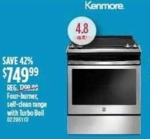 Kenmore 4.8 cu. ft. Oven With Turbo Boil