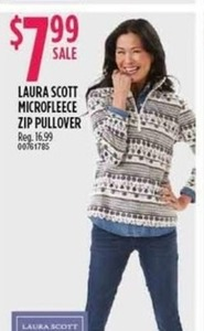 Laura Scott Microfleece Zip Pullover