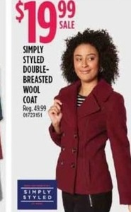Simply Styled Double-Breasted Wool Coat