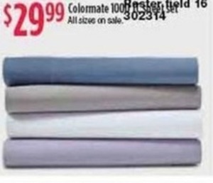 Colormate 1000 Thread-Count Sheets