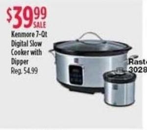Kenmore 7-Qt Digital Slow Cooker w/ Dipper