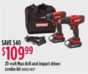 20-Volt Max Drill & Impact Driver