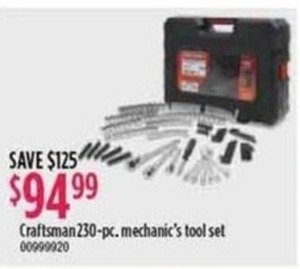 Craftsman 230-pc Mechanic's Tool Set