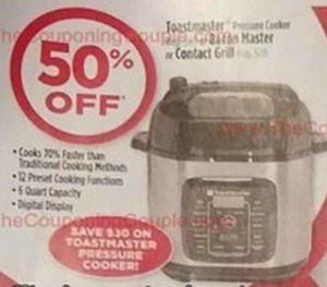 Toastmaster Pressure Cooker or Contact Grill