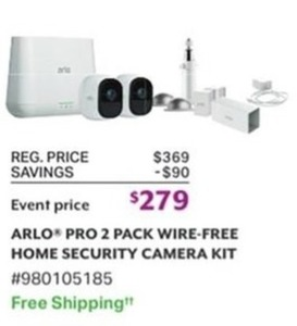 Arlo Pro 2 Pack Wire Free Home Security Camera Kit