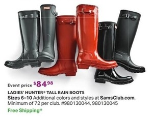 Ladies' Hunter Tall Rain Boots