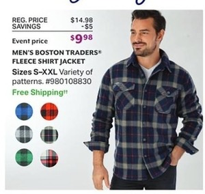 Men's Boston Trader Fleece Shirt Jackets